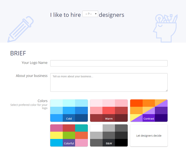 freelance logo design requirements