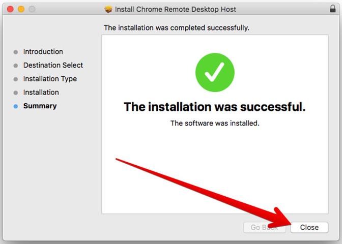 remote desktop host installation message