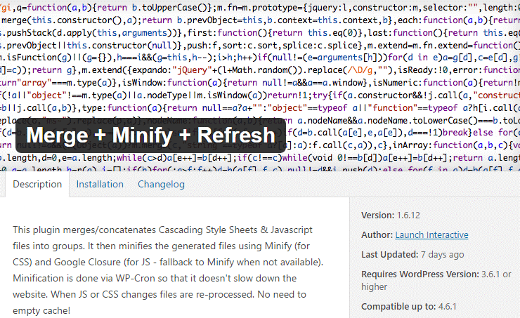 Merge+minify+refresh