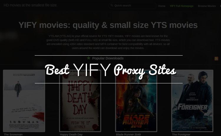 YIFY Proxy Sites