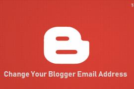 change blogger login email address