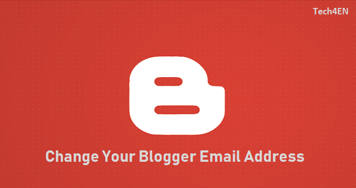 change blogger login email address